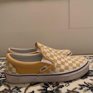 Yellow Checkered Slip-on Vans